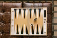 Personalized Backgammon Game in Kimberly Schlegel Whitman's One Room Challenge Makeover