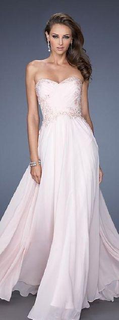Elegant A-Line Sleeveless Long Chiffon Evening Dress In Stock jijidresses14289 #promdress
