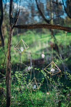 DIY gemstone mobile | Paula Bartosiewicz Photography | see more on: http://burnettsboards.com/2014/06/winner-is/ #DIY