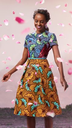 Bloom Vlisco ~African Prints, African women dresses, African fashion styles, African clothing, Nigerian style, Ghanaian fashion