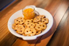Southern Style Super Bowl Snack – Pimento Cheese Dip with Pretzel Chips Recipe