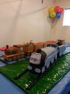 Spencer The Train Cake for Sean's 4th Birthday