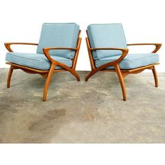 Danish Modern Lounge Chairs ❤ liked on Polyvore featuring home, furniture, chairs, accent chairs, danish modern chair, danish modern lounge chair and danish modern furniture