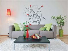 wall art for living room with red tulips
