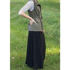 The Skirt Outlet Beautiful Flowing Black Maxi Skirt (2.525 RUB) ❤ liked on Polyvore featuring skirts, black, floor length skirt, fold over long skirt, long foldover skirt, ankle length skirts and fold-over maxi skirt