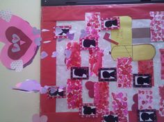Valentine's Silhouettes made with a digital camera.  Preschool art bulletin board