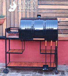 Barrel Fire Pit, Barrel Grill, Fire Pit Bbq, Homemade Smoker, Homemade Tools, Grill Design, Cafe Design, Rocket Stove Design, Backyard Bbq Pit