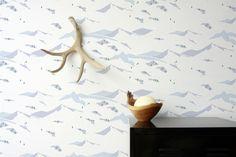 Snow Scene Wallpaper in Tundra design by Aimee Wilder