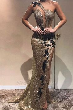 Newarrivaldress has a great collection of Prom Dresses at an affordable price. Newarriavldress custom made Cheap Sheath One-Shoulder Sequins Applique Prom Dre Trendy Dresses, Elegant Dresses, Beautiful Dresses, Fashion Dresses, Formal Dresses, Formal Wear, Vestidos Fashion, Casual Dresses, Party Dresses With Sleeves