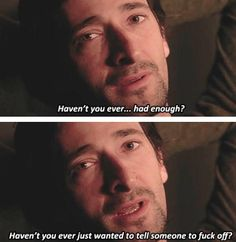 Detachment... yeah... totally.  Haven't we all? ;)