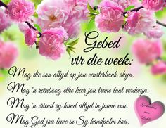Gebed vir die week Good Morning Gif, Good Morning Quotes, Christian Prayers, Christian Quotes, Blessed Week, Afrikaanse Quotes, Goeie Nag, Goeie More, Inspirational Qoutes