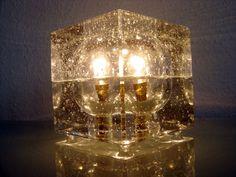 Rare MID CENTURY MODERN Table Lamp ICE CUBE Light MENDINI Sarfatti PONTI era