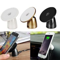 Car Wireless Charging Phone Holder Power Charger Adapter Base for Androd iPhone