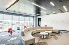 Kontour Lounge from Davis Furniture in the Risk Analytics offices - designed by Clockwork Architecture