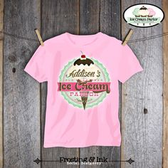 Ice Cream Party - Ice Cream Parlor Birthday - Iron on Transfer - Printable (Shirt, Tshirt, Apron, Social, Sweet, Shoppe, Old Fashioned) by frostingandink on Etsy https://www.etsy.com/listing/126456008/ice-cream-party-ice-cream-parlor