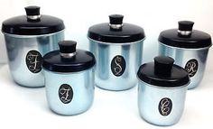Vintage 1970'S Canister SET OF 5 Anodised Blue Retro Model Maid BY Jason Kartell | eBay