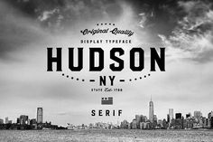 Ad: Hudson NY - Serif by Arkitype on Hudson NY Serif A display font that gives you strong and bold typography. Hudson NY is an adaptation and progression of Roper Font, and like Bold Typography, Typography Design, Typography Served, Typo Design, Business Brochure, Business Card Logo, Business Flyer, Fonte Free, Baseball Font