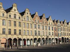 Flemish Baroque Facades at the Cobbled Petite Place (Place Des Heros), Arras, Nord-Pas De Calais, F Photographic Print at AllPosters.com