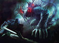 Manus father of the abyss (Dark souls fan art) by Nahelus.deviantart.com on @deviantART