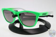 8fc94e7360 Oakley Frogskins Sunglasses OO9013-99 Green Fade w  PRIZM Daily Polarized  Lens Oakley Frogskins