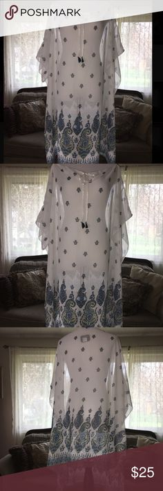 New Beautiful, light, shear pullover/camisole New Beautiful, light shear pullover/camisole with paisley pattern. Avenue Tops Camisoles