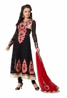 Fabdeal Indian Designer Georgette Black Embroidered Salwar kameez Fabdeal, http://www.amazon.de/dp/B00INWQHAO/ref=cm_sw_r_pi_dp_dm7otb0ZA60ZR