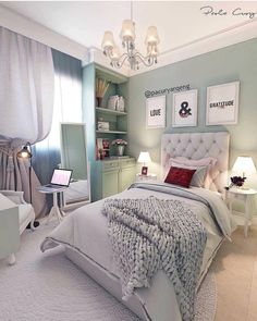 Looking for inspiration for remodel your dreamy room? Here are some ideas to make your dreamed room become reality! check out beautiful room ideas for your inspirations! Girls Room Paint, Girls Bedroom Colors, Bedroom Themes, Girl Room, Bedroom Ideas, Dream Rooms, Dream Bedroom, Bedroom Wall, Bedroom Decor