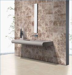 Entre nuestros revestimientos del catálogo 2014 presentamos esta serie Vagli para baños que enamoran  A new bathroom concept #ceranosa #picoftheday #instaceranosa #cevisama #interiordesign #bath #bathroom #WallTiles