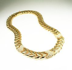 Vintage Necklace Nolan Miller Wide Gold by zephyrvintage on Etsy, $35.00