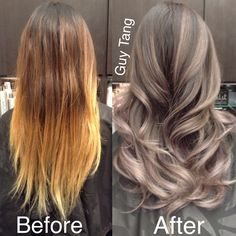 Silver Grey Ombre Hair Make-Over
