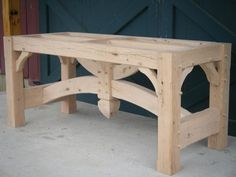 Timber frame table base 2