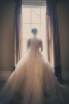 Stunning #weddingdress #bridalportrait James and Amanda's #memphis wedding. Photo // Evan David Photography