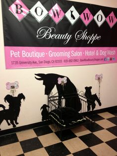 Canine hitches for Fur Babies that don't like to be kenneled while they are waiting for a fur-cut and are well behaved! http://www.bowwowbeautyshoppe.com #pet grooming, #dog grooming, #pet boutique