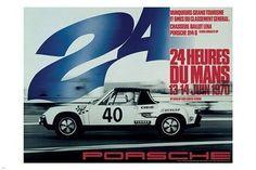 PRECISION RACING vintage sports poster 24 HOURS DU MANS race 24X36