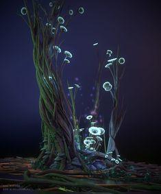 Hive Tree, Ben Wilson on ArtStation at https://www.artstation.com/artwork/n03l1