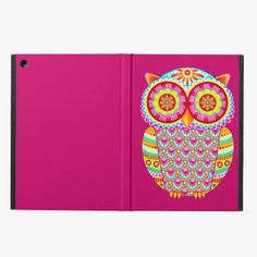 Awesome! This Colorful Psychedelic Owl iPad Case with Kickstand is completely customizable and ready to be personalized or purchased as is. It's a perfect gift for you or your friends.