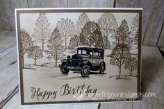 Stamp & Scrap with Frenchie: Sponging a Vintage Background Tutorial Video, Guy Greeting, Vintage Card, Lovely as a Tree Birthday Cards For Men, Man Birthday, Diy Christmas Cards, Christmas Fun, Scrapbook Cards, Scrapbooking, Card Tutorials, Video Tutorials, Hand Stamped Cards