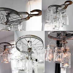 DIY Jar Chandelier