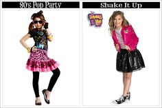 Disney's Shake-it Up Halloween Costume plus Rapunzel, Alice In Wonderland, Queen of Hearts, Witches, Audrey Hepburn,Pocahontas, Angel, Pirate, Snow White, Black Cat and much more