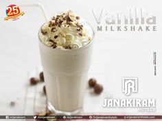 #Vanilla_Milkshake! Mouth watering chocolates with delicious vanilla create the perfect way to enjoy a hot summer day! #vanillamilkshake‬ #milkshake‬ #summer_treat‬ #chocolates‬ #vanilla‬ #icecream‬