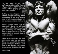 Excellent dieting advice from legendary bodybuilder, Frank Zane!