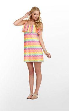 sugar boutique- Lilly Pulitzer Laya Dress in Gauzy Chevron Stripe