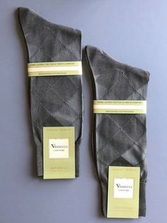 Men/'s VANNUCCI Couture STRIPED DESIGNER SOCKS ORANGE Taupe GRAY Black BLUE NEW
