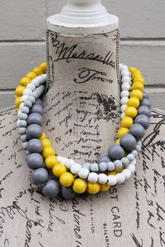 beautiful things should be affordable to everyone!All items are handmade in Durb. Mellow Yellow, Madness, Monochrome, Beaded Necklace, Handmade, Beautiful, Jewelry, Design, Beaded Collar