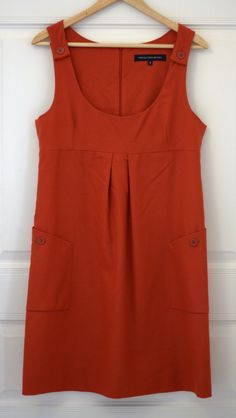 FRENCH CONNECTION Red wool dress. Size US 8. In excellent condition, only worn once. Price - 800 CZK.