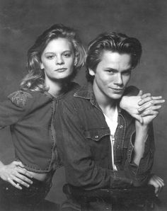 """Martha Plimpton and River Phoenix in """"Running on Empty."""""""