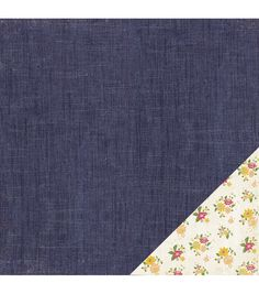 """American Crafts Travel Double-Sided Cardstock 12""""X12""""-Denim"""