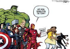 Today's cartoons: Avengers recruit new member