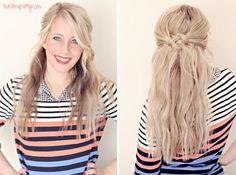 Oh my gosh, I love this! I want to do this to my hair for St. Patricks Day! Click for Step by Step photo tutorial.