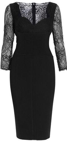 Elie Saab Lace Sleeve Dress